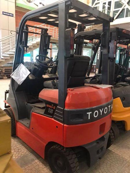Xe nâng điện ngồi lái Toyota FBH15-45826,Model: 7FBH15,sx năm 2009.